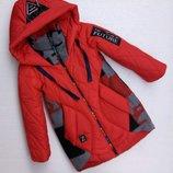Куртка для девочки Мокси, 128-152 см. Еврозима