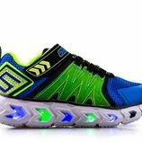 Новые светящиеся кроссовки Skechers с мигалками. Размер 22,5 стелька 14,5 см