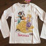 Реглан, лонгслив, топ с доинными рукавами Disney Princess Принцессы Дисней на девочку 128см