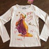Реглан, лонгслив, топ с длинными рукавами Disney Princess Rapunzel Рапунцель на девочку 128см