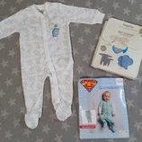 Нежная пижама человечек слип, биохлопок, Lupilu Германия