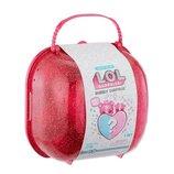 Cердце-сюрприз в розовом, оранжевом кейсе 558378 с куклой L.O.L, Чемодан-Жемчужична. Оригинал