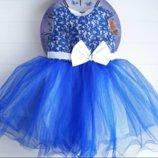 Платье на девочку детское 2-4 годика. Нарядное платье. Пышное платье