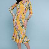 Платье Glem Фаина гиацинты желтое