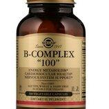 Solgar, B-комплекс 100 , 100 растительных капсул