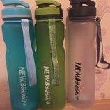 Бутылка для воды спорт 1 литр с ситечком и делением