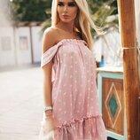 Платье Звёзды розового цвета