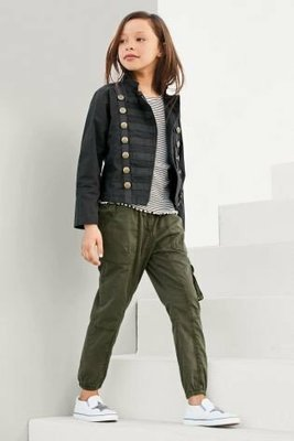 куртка в стиле милитари на девочку 11 лет Next