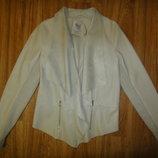 Кожаная куртка пончо, накидка M&Mode р. 46-48 40 бежевый цвет