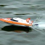 Сверхскоростной катер 30 км.час на радиоуправлении 2.4GHz Fei Lun FT009 High Speed Boat. оранжевый