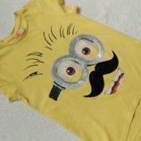 Прикольная футболка Миньоны George на 7-8 лет