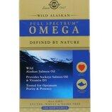 Solgar, Full Spectrum Omega, жир дикого лосося с Аляски, 120 мягких капсул