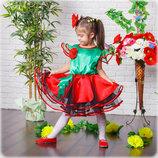 Сценическое детское платье мака от 3 до 6 лет