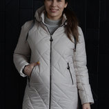 Куртка женская демисезонная удлиненная Размеры с 44 по 54 .Оригинальный полуприталенный силуэ