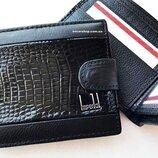 Кожаный мужской кошелек Imperial Horse бренд. Бумажник мужской. Кожаное портмоне на подарок.