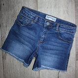 Стильные модные джинсовые шорты зара Zara 8 лет, рост 128 см.