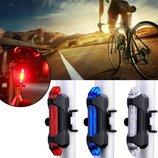 USB велофонарь фонарь задний передний мигалка катафот для велосипеда