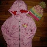 нежная куртка с принцессами Disney на 5-6 лет