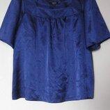Блуза синяя атласная Papaya