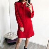 Красное платье с бантом Lera.Love.Shop