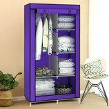Шкаф тканевый складной 8890 фиолетовый