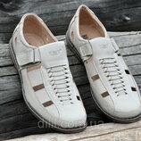 Мужские летние кожаные туфли босоножки