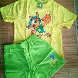 футболка шорты пижама 4-6лет р.110-116 LIDL Германия