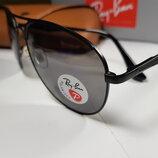 Мужские очки Ray Ban P -aviator polarized- антиблик . Реплика - люкс