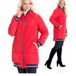 Трендовая куртка 42- 56 размеры от производителя sku-1 красный бомбер