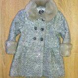 Красивенное пальто F&F,рост 92 см 1.5-2 года .