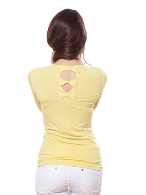 Фирменная блуза с декором сзади. Есть большие размеры до 2XL.