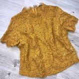 Очень красивая блуза топ кофта. блуза гипюр кружево. шикарный цвет. размер 44-46