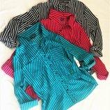 Рубашка в полоску из поплина в стиле милитари , в 3-х цветах