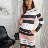 женское платье резинка в разных цветах дц 56