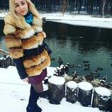 Шикарная натуральная Шуба куртка лиса