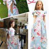 Шикарное платье шарм в цветы для девочки