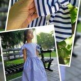 Платье хлопковое нарядное для девочки шарм