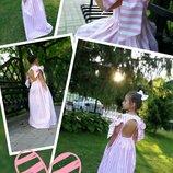 Платье нарядное для девочки шарм нежное хлопок