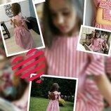 Платье хлопок для девочки нарядное