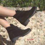 Ботинки из натуральной кожи замши Челси