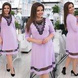 Нарядное платье XL креп дайвинг сетка мята сиреневого розовый бутылка марсалового