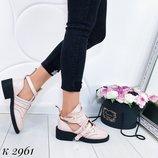Акция Женские розовые ботинки р 41