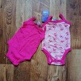 Набор из двух летних бодиков для девочки размер 62-68, 41-98 Ю