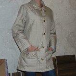 S/м gerry weber стеганная куртка,пальто золотисто-бежевого цвета