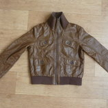 H&M очень мягкая куртка-ветровка, под кожу, 170рост