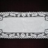 Салфетка вышивка ленточное кружево