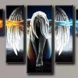 Модульная картина на холсте Ангел