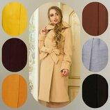 Деми пальто из кашемира. 44-58. 7 цветов.