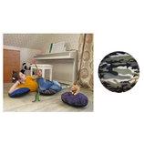 Пуф подушка детская для сидения на полу пуфик флис милитари