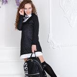 Костюм-Двойка/платье/платье-Рубаха, 134, 140,146, 152 cм, арт.ML-010-511-G